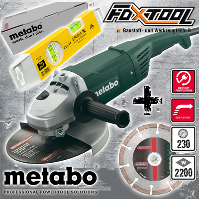 metabo angle grinder wx2200 encore 2200 watt 230mm angle grinder grinder ebay. Black Bedroom Furniture Sets. Home Design Ideas